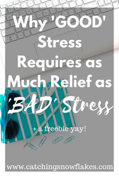 Receive some good news lately? You won a large sum of money or received a promotion? In some ways, we still tend to stress about the good things in our life no matter how great. Learn why it's important to schedule de-stressing time in your life :)