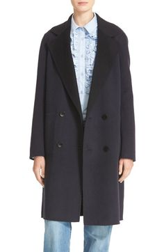 TIBI Reversible Double Face Wool & Angora Long Coat. #tibi #cloth #