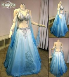 LOL if I ever wanted a belly dance themed wedding, this would be the dress!!(maybe in a different color though)