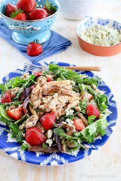 Summer Salad with Grilled Chicken | TheNoshery.com - @thenoshery