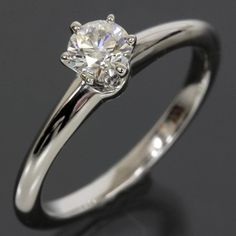 Tiffany & Co. 0.32ct Diamond Solitaire Ring PT950 3EX US5 EU49 W/Cert. Get the lowest price on Tiffany & Co. 0.32ct Diamond Solitaire Ring PT950 3EX US5 EU49 W/Cert and other fabulous designer clothing and accessories! Shop Tradesy now