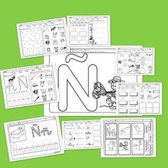 Recursos para el aula: Lectoescritura y vocabulario con la letra Ñ