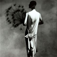Madeleine Vionnet dress with Fan, New York, Photo by Irving Penn, 1974.