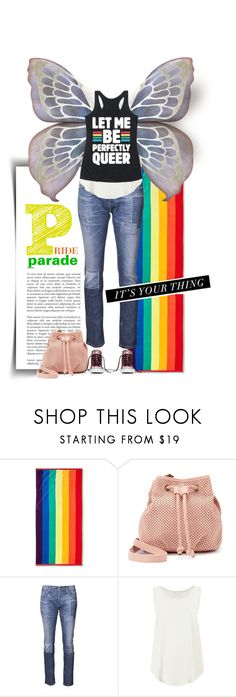 """""""Celebrate Pride"""" by dawn-scott ❤ liked on Polyvore featuring Room Essentials, madden NYC, Goldsign, M&S, Andy Warhol, pride, topset, offduty, offdutystyle and offgrid"""