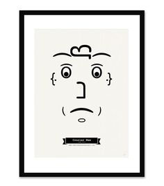 Typography Series of Faces Made from Fonts by Tiago Pinto