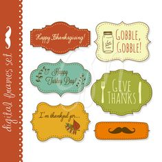 18 Thanksgiving Frames Digital clip art with by GraphicMarket, $4.99