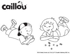 Caillou Coloring Sheet – Fun & Games!