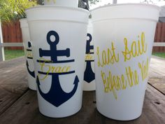 Personalized 20 oz Anchor monogram wedding by Customforless, $6.50