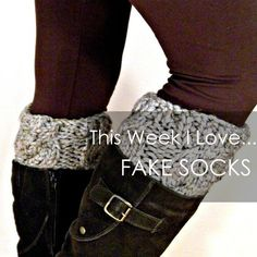 Use sweater sleeves to create sock toppers!