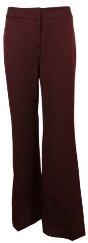Nine West Women's High Definition Modern Fit Pant (2, Bordeaux)