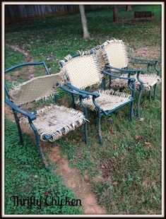 Patio Chair Redo | Thrifty Chicken: Something Old Is New Again