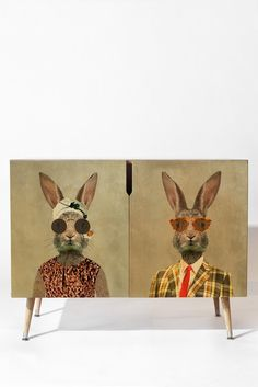 Coco de Paris Vintage Lady Rabbit Credenza | DENY Designs Home Accessories