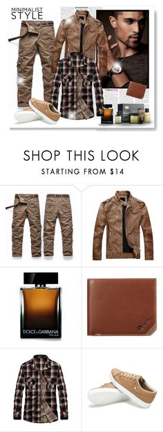 """""""Newchic"""" by asia-12 ❤ liked on Polyvore featuring Dolce&Gabbana, The Art of Shaving, men's fashion, menswear and newchic"""