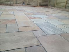 Natural Indian Stone Paving Installation by Abel Landscaping Paving Edging, Paving Stones, Garden Edging, Stepping Stones, Driveway Ideas, Patio Ideas, Garden Ideas, Small Space Gardening, Garden Spaces