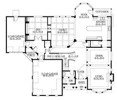 Floor Plans AFLFPW03630 - 2 Story Craftsman Home with 6 Bedrooms, 5 Bathrooms and 6,130 total Square Feet