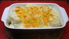 Estupendo primer plato de coliflor con bechamel gratinada con queso al horno