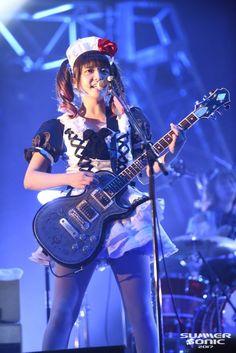 Japanese Girl Band, Kevin Bacon, Band Wallpapers, Guitar Girl, Female Guitarist, Girl Bands, Punk Rock, Rock Bands, Maid