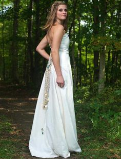 Bohemian Wedding Dress Made Of Hemp And Organic Cotton Dresses Backless Lace
