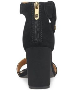 Tommy Hilfiger Sunday Two-Piece Block-Heel Dress Sandals - Black 8.5M