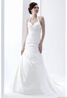 Meerjungfrau Elegante Schlichte Brautkleider aus Taft mit Schleppe