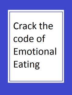 "What do I mean by ""cracking the code"" of emotional eating? Lots of people have said to me, I have no idea what I'm feeling or what's going on inside.  I know it's something  emotional but I'm so mad and upset at myself for eating, I don't have a clue as to what's actually going on."" Watch the video here https://www.youtube.com/watch?v=3fqT6hCKTnM"