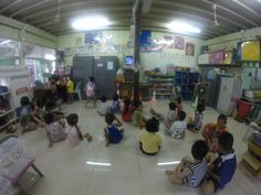 School in the slums of Bangkok