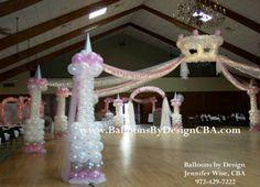 Dance floor pista de baile con globos on pinterest dance for Balloon dance floor decoration