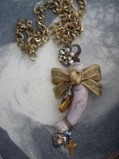 upcycled jewelry necklace....