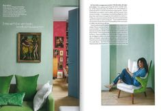 Tricia Guild's London home as seen in ELLE Decoration, France.