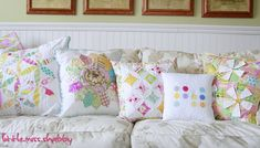 These pillows would make great quilts!