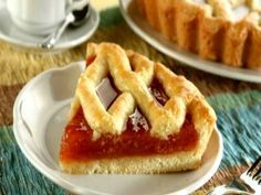 A jam dessert Greek Sweets, Greek Desserts, Cookie Desserts, Pie Recipes, Sweet Recipes, Dessert Recipes, Sweet Pie, Sweet Tarts, Greek Cake