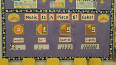 IDEA - Music Is A Piece Of Cake - Note value bulletin board!