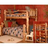 Found it at Wayfair - Timber Designs Silver Creek Twin over Full Bunk Bed with Built-In Ladder