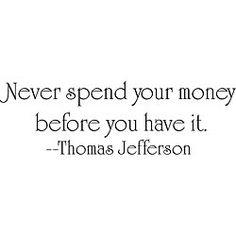 Thomas Jefferson 'Money' Vinyl Wall Art