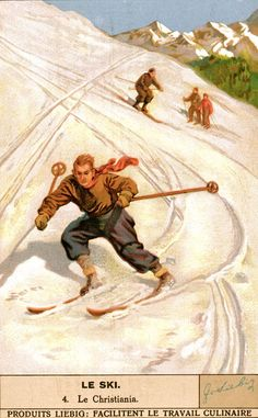 Vintage Skiing Poster - La Christiania