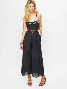 Oh yes. $49.95 Free People Polka Dot Romper at Free People