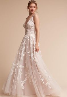 Wedding Dresses : Illustration Description BHLDN wedding dress | trib.al/x4inVz1 - #Dress