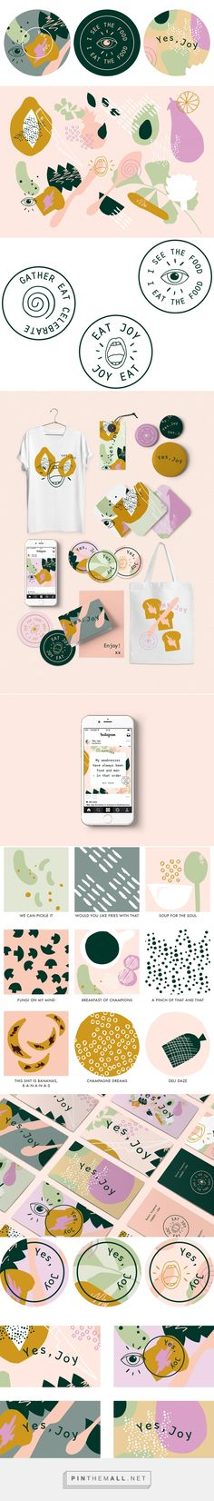 Yes, Joy Food Blogger and Caterer Branding by Lila Theodoros