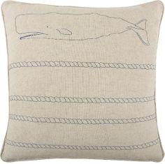 Thomas Paul Whale and Rope Pillow, Indigo