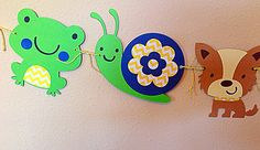 Frog Snails & Puppy Dog Tails Garland by PaisleysPaperParty