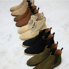 Chelsea boots outfit - The Best Men's Shoes And Footwear Not a fan of the lace up ones to be honest, could be dope just need to see more – Chelsea boots outfit Chelsea Boots Outfit, Suede Chelsea Boots, Mens Shoes Boots, Shoe Boots, Ankle Shoes, Men Dress, Dress Shoes, Fashion Boots, Mens Fashion
