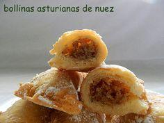 Las bollinas son un dulce típico de mi tierra. Se pueden rellenar de nueces, almendras, crema pastelera, dulce de membrillo..., y aunque se...