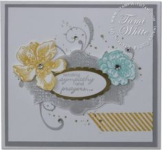 Sympathy WOW Card featuring Stampin Up Everything Eleanor Stamp set on Vimeo Scrapbooking, Scrapbook Cards, Sympathy Cards, Greeting Cards, Card Tutorials, Video Tutorials, Stamping Up Cards, Card Tags, Cool Cards