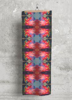 Modal Scarf - Flora in Rainbow by VIDA Original Artist Signature Design, Fashion Labels, Digital Illustration, Eco Friendly, Flora, Mixed Media, Rainbow, Create, Clothing