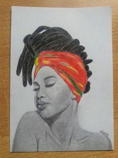 Rasta Art, Woman Drawing, Bob Marley, Drawings, Painting, Women, Female Drawing, Painting Art, Woman Sketch
