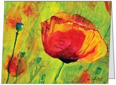 """Just ordered """"Love the Poppies"""" notecards. email me if you want to order: $15 for 5. 10% proceeds goto BelieveBig.org"""