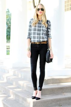 Black & White Plaid Shirt #fashionjackson
