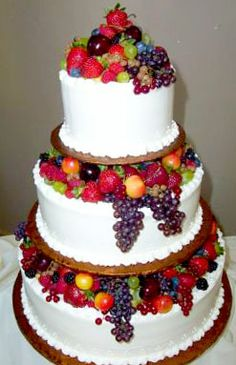 fruit decorated wedding cakes - Google Search