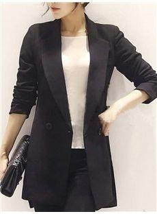 上品印象 女子力UP!OL通勤黒ファッションショットスーツ