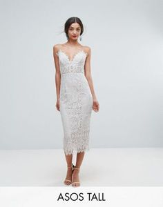 Browse online for the newest ASOS TALL Lace Cami Midi Pencil Dress styles. Shop easier with ASOS' multiple payments and return options (Ts&Cs apply). Tall Dresses, Dresses For Sale, Short Dresses, Women's Dresses, Wedding Dresses, Asos, Lace Top Outfits, Lace Midi Dress, White Dress